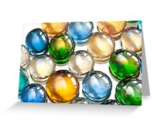 Glass balls marbles abstract Greeting Card