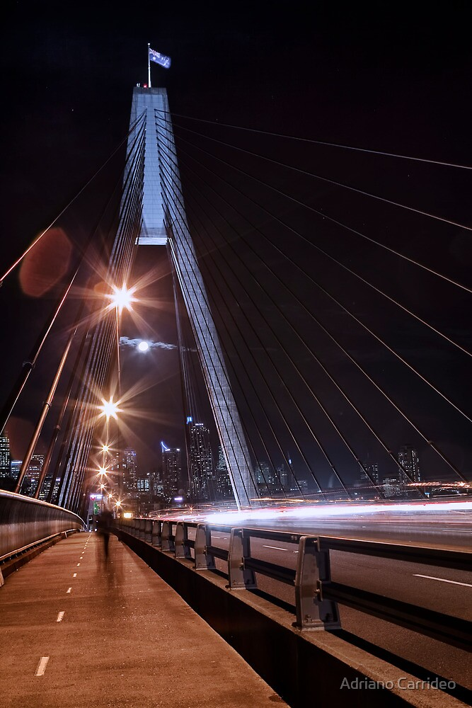 Anzac bridge crossing by Adriano Carrideo