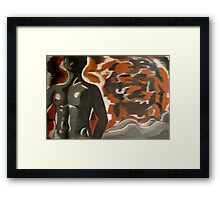 female and male nude Framed Print