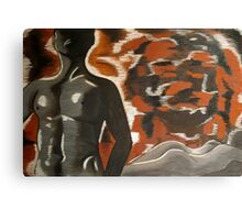 female and male nude Canvas Print