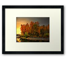 Fall On The Willamette River Framed Print