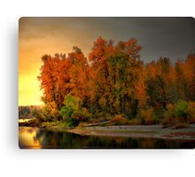 Fall On The Willamette River Canvas Print