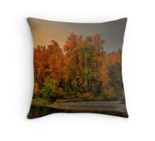 Fall On The Willamette River Throw Pillow