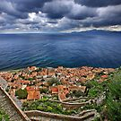 Cloudy sky over Monemvasia by Hercules Milas