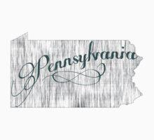 Pennsylvania State Typography Kids Tee