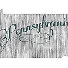 Pennsylvania State Typography by surgedesigns
