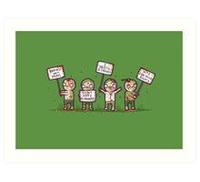 Zombie lives matter! Art Print