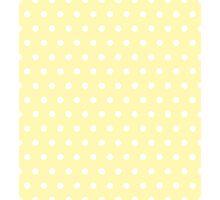 Small White Polka Dots on Cream background Photographic Print