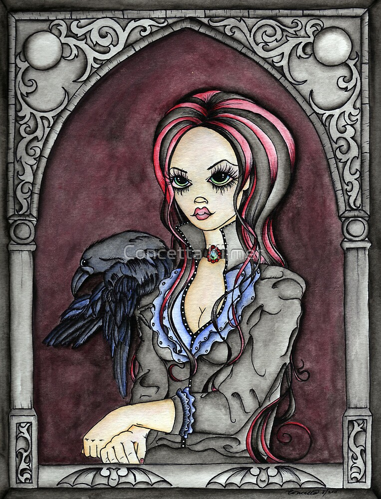 Lenore and the Raven by Concetta Kilmer