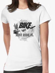 Bike – just ride it! (Light) Womens Fitted T-Shirt