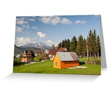 Bucolic view in Koscielisko village Greeting Card