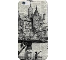 Steampunk house Howl Dictionary Art iPhone Case/Skin