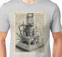 Steampunk machine Vintage Dictionary Art Unisex T-Shirt