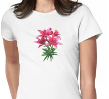 Magenta Lilies Womens Fitted T-Shirt