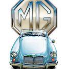 MGA Sportscar Blue by davidkyte