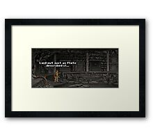 Just As Plato Described It Framed Print