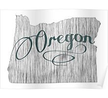 Oregon State Typography Poster