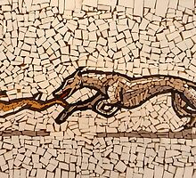 Hare and Hound Mosaic by Polecatty