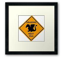 Dragons - 4km Framed Print