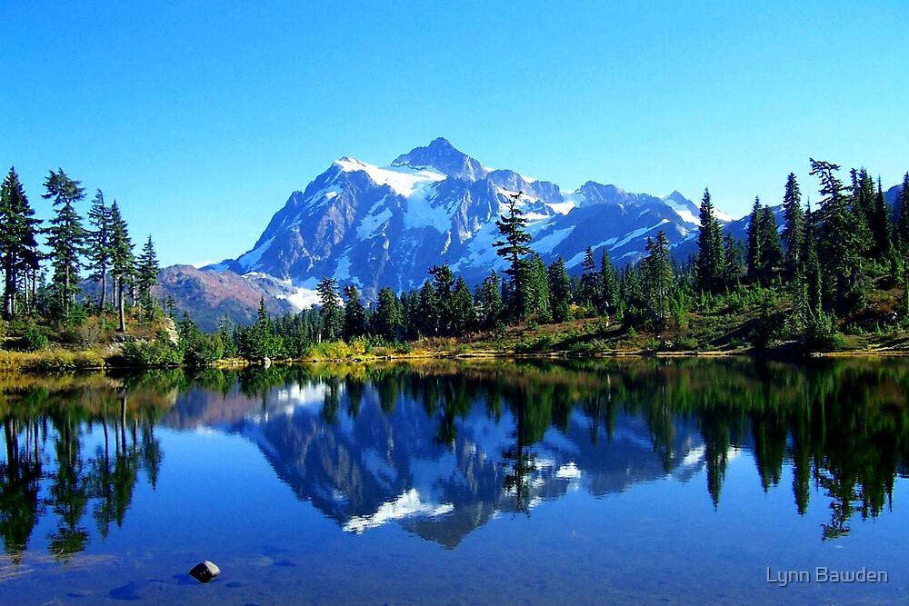 """Mount Shuksan and Picture Lake in the Fall"" by Lynn Bawden"