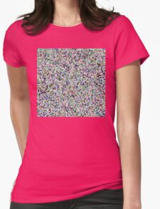 The Duck Flew The Polka Womens Fitted T-Shirt