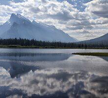 Mount Rundle & Vermillion Lake by Teresa Zieba
