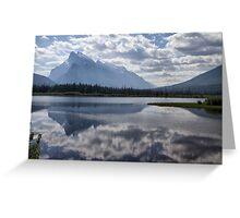 Mount Rundle & Vermillion Lake Greeting Card