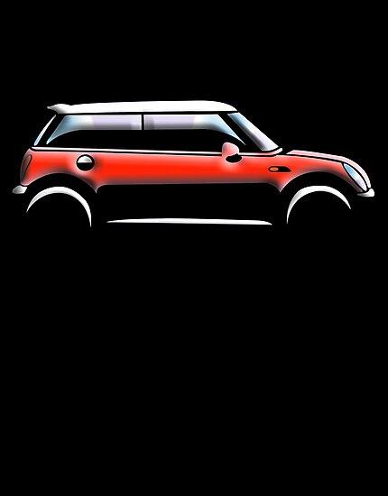 MINI, CAR, RED, BMW, BRITISH ICON, MOTORCAR, MOTOR SPORT by TOM HILL - Designer