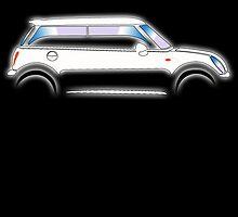 MINI, CAR, WHITE, BMW, BRITISH ICON, MOTORCAR by TOM HILL - Designer