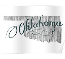 Oklahoma State Typography Poster