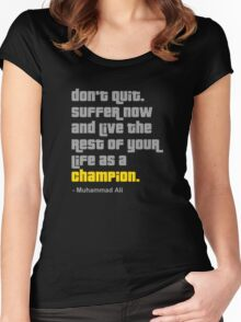 Don't Quit Women's Fitted Scoop T-Shirt