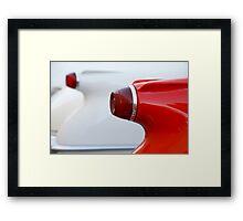 Vette Tails Framed Print