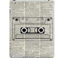 Retro Vintage Music Casette - Dictionary Book Page Art iPad Case/Skin