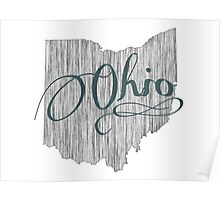 Ohio State Typography Poster