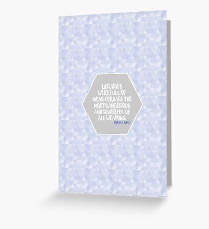 Throne of Glass Libraries Greeting Card