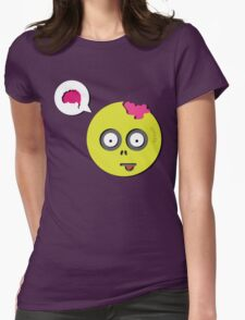Zombie Thought Womens Fitted T-Shirt