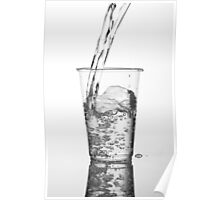 Fresh water pouring Poster