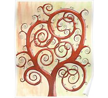 Orange Tree Drawing Watercolor with Prisma Marker Poster