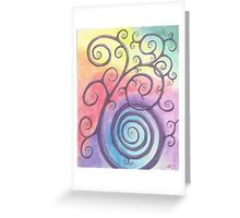 Purple Briar Swirl Drawing Pastel with Prisma Marker Greeting Card