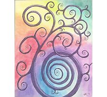 Purple Briar Swirl Drawing Pastel with Prisma Marker Photographic Print
