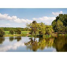 Lake and trees rural landscape Photographic Print