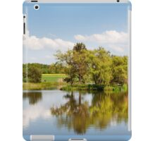 Lake and trees rural landscape iPad Case/Skin