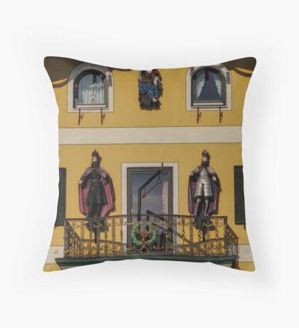 Take a look to the façade!! Throw Pillow