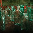 Green Bottles by Cyn  Valentine
