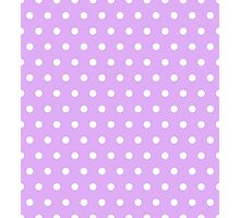 Small White Polka Dots on Lilac background Photographic Print