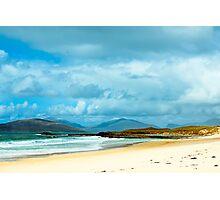 Landscape, Traigh Mhor beach, South Harris, Western Isles, Scotland Photographic Print