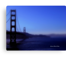 Golden Gate in Blue hues Canvas Print