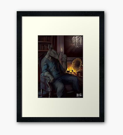 Lost in the melodies Framed Print