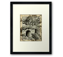 The Bag End Hobbit House over Dictionary Page Framed Print