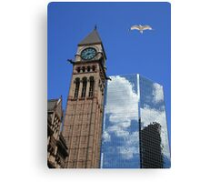 Refected Clouds Canvas Print